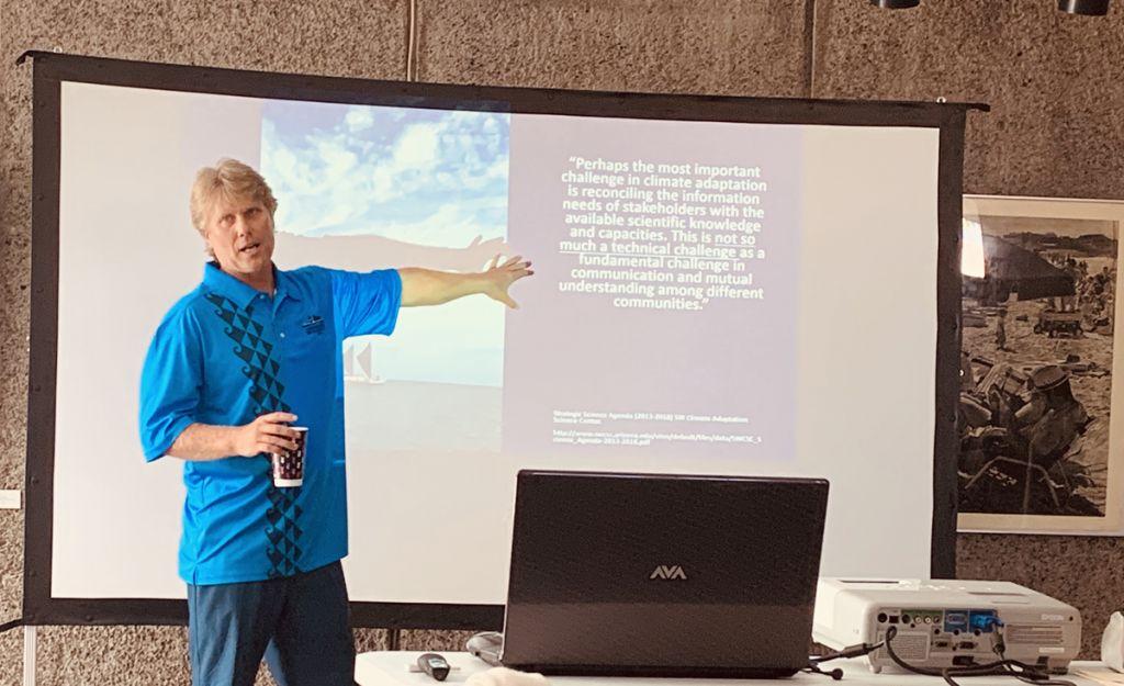 MCC's Scott Laursen presenting powerpoint on the MCC program.